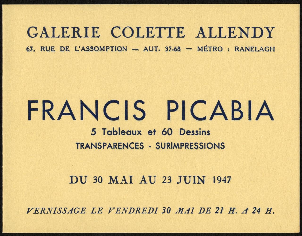 image for Galerie Colette Allendy
