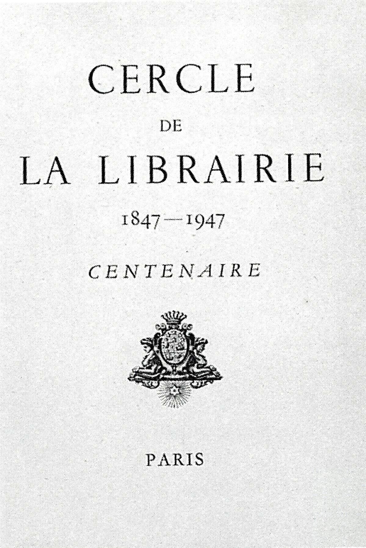 image for Cercle de la Librairie