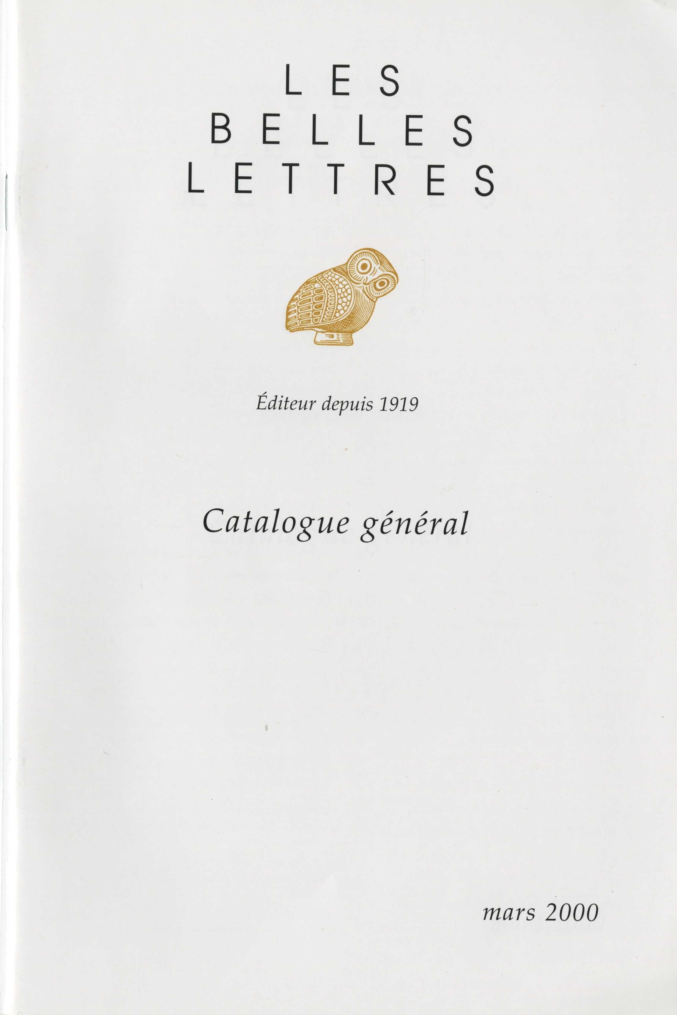 image for Les Belles Lettres
