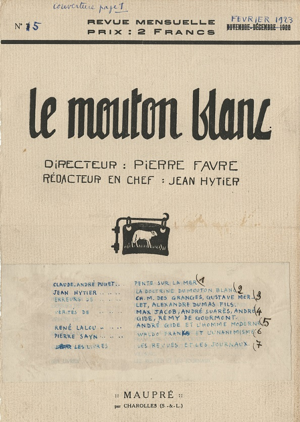 image for Mouton blanc, revue / Jean Hytier