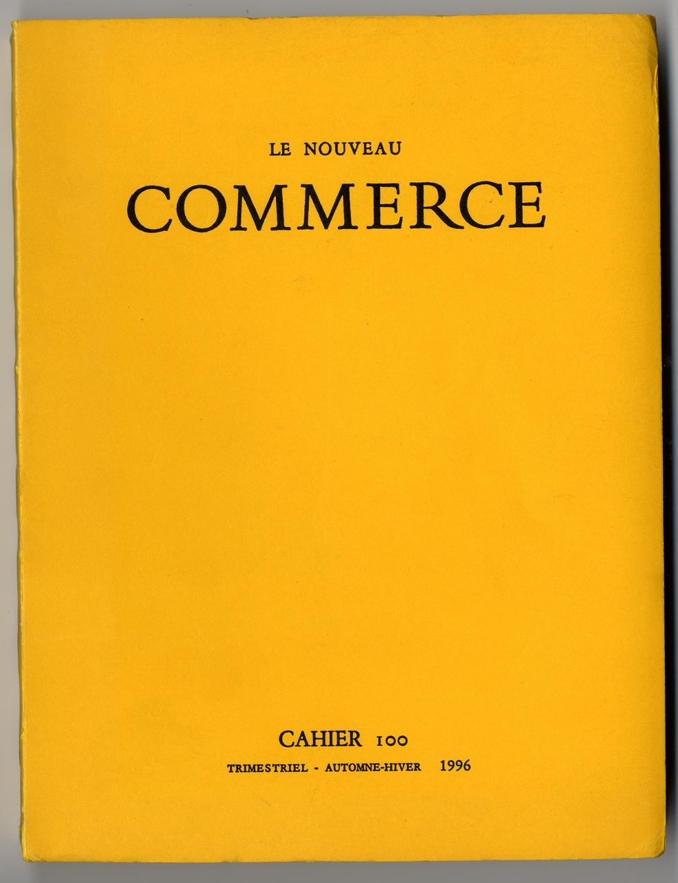 image for Le Nouveau Commerce (1963-1998)