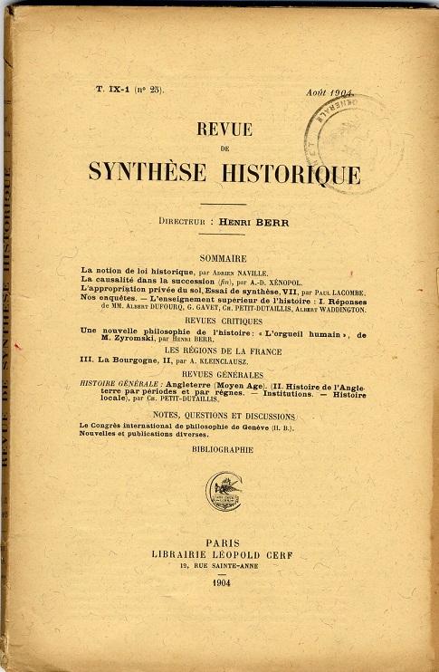 image for Revue de Synthèse