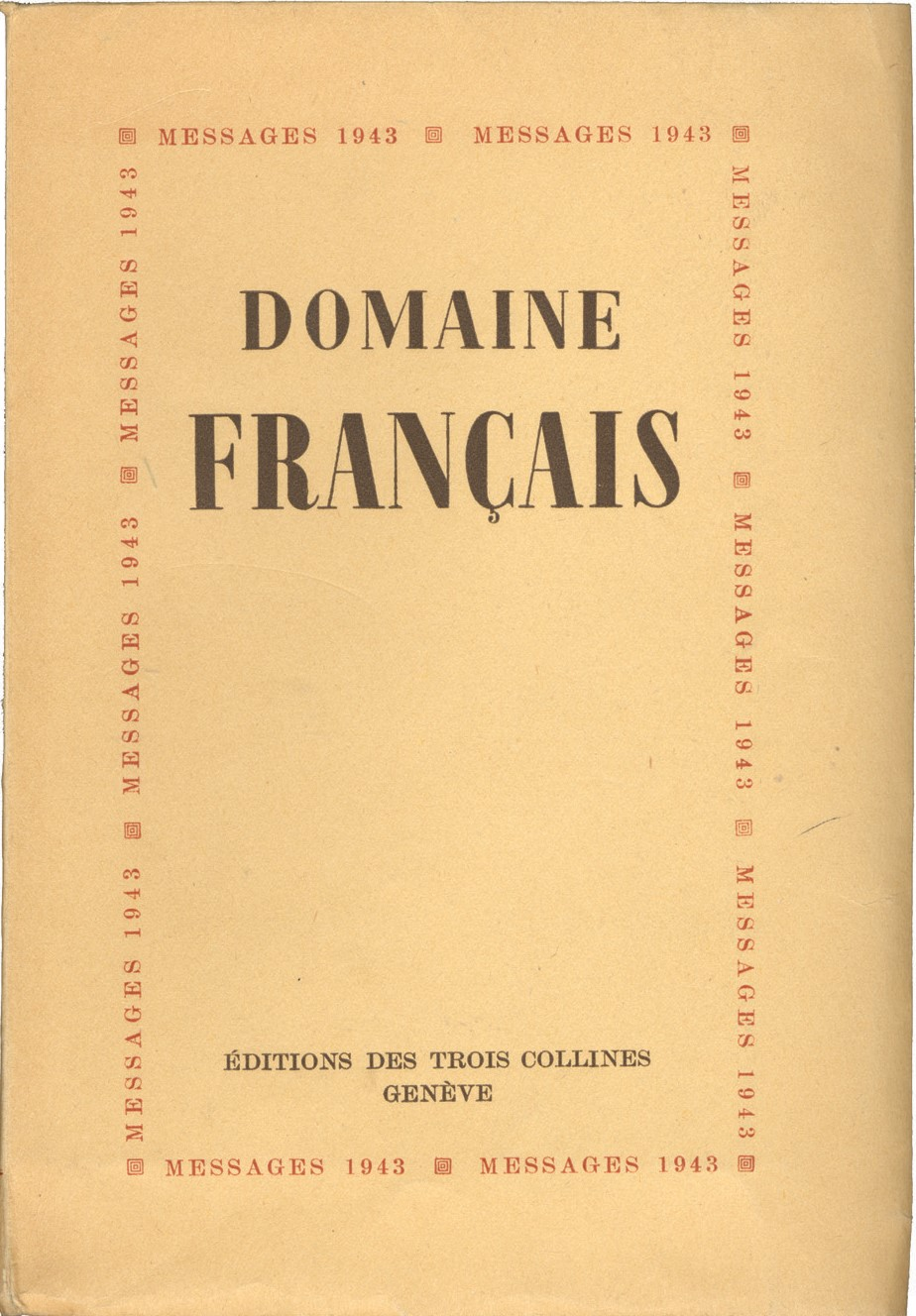 image for Éditions des Trois Collines / François Lachenal